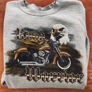 ROAD WARRIOR ⚡️🦅 Vintage Sweatshirt! Size Small